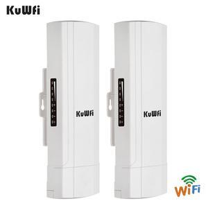 Image 4 - KuWFi Outdoor CPE Router Wifi Repetidor Wifi Extender 2 Pics Distanza di Trasmissione Fino A 3 KM di Velocità Fino A 300 mbps Wireless CPE