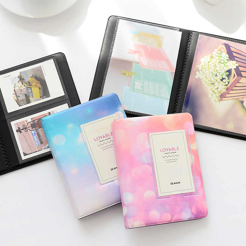 BALLE 64 Pockets 3 Inch Starry Sky Photo Album for 3 Inches Instant Polaroid Fujifilm Instax Mini Film-Colorful Starry Sky