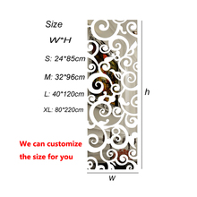 3D clouds pattern acrylic mirror wall stickers decor