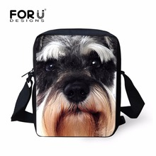 Cute Schauzer Dog Messenger Bags for Men Women Casual Min Cross body Bag 3D Animals  Small Sling Shoulder Bags Travel Mochila