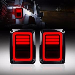 Image 1 - Eua/ue edição reverser freio sinal de volta led luzes traseiras lâmpada conjuntos traseiros para jeep wrangler jk 2 & 4 porta 2007 2017 ponto