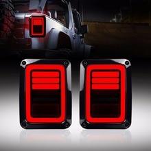 USA/ue édition inverseur frein clignotant LED feux arrière lampe arrière assemblages pour Jeep Wrangler JK 2 & 4 porte 2007 2017 DOT
