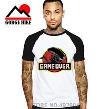 Predator invade estilo camisetas Alien Xenomorph Covenant Bone Camiseta de Juego de manga corta Jurásico O cuello camiseta Park de talla grande