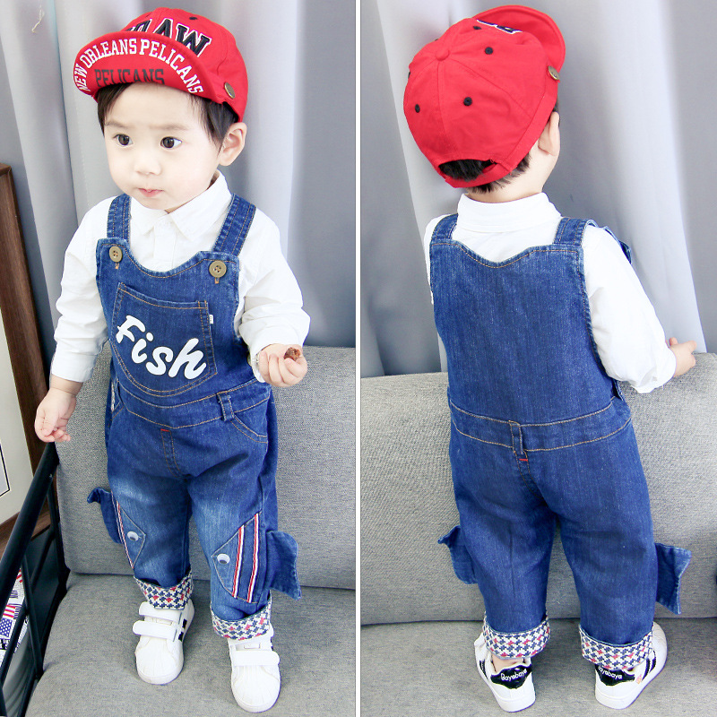 baby boys pants infant overalls 1-3 years baby girls clothes boy spring/autumn jeans kids animal jumpsuit cotton denim trousers 3