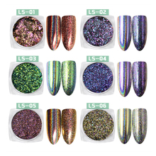 Moglad Holographic Glitter Laser Powder Nail Flakes Powder Laser Nail Art Sequins Dust Holographic Glitter Paillette Decorations