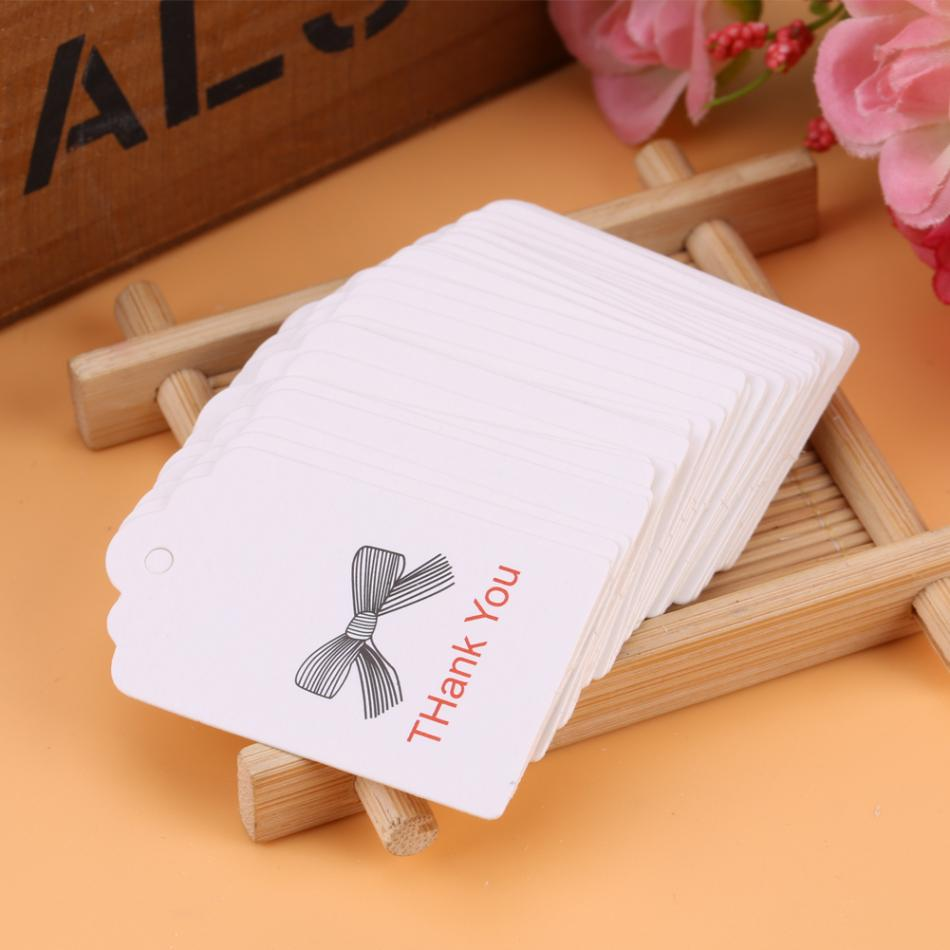 100pcs White Handmade Hang Label Wedding Favor Gift Tags Clothing ...
