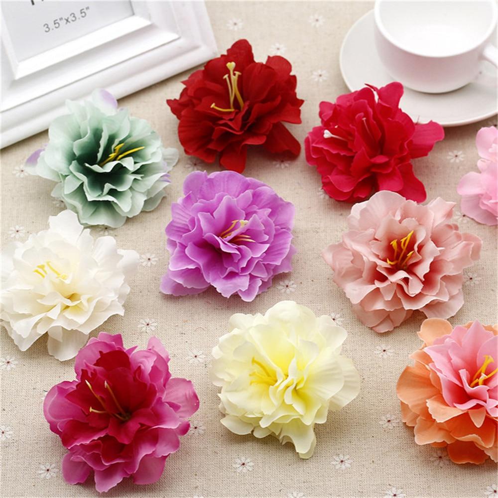ᑐ20PCS Artificial Silk Simulation Peony Flower Home Wedding Party ...