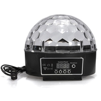 9 Colors RGB Crystal Magic Ball Led Stage Lamp 7 Sound Control Modes DMX512 27W Stage