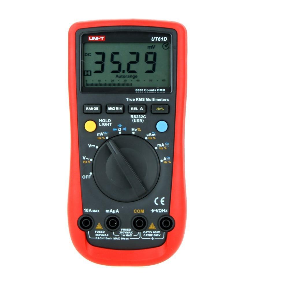 где купить UNI-T UT61D Modern LCD Digital Multimeters AC DC Volt Amp Ohm Auto Range Tester Meter по лучшей цене