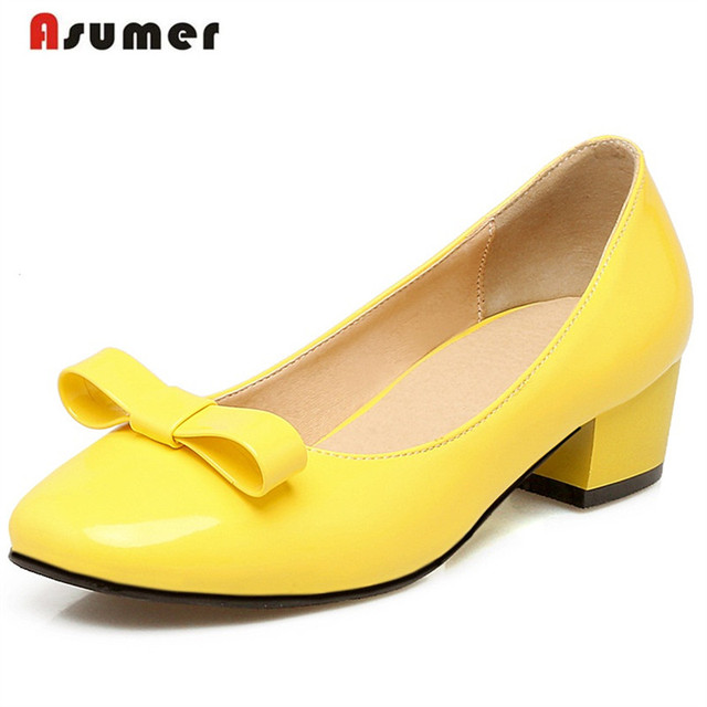 Asumer 2017 Fashion sexy women high heel shoes shallow solid pu wedding shoes lady pumps bride spring autumn big size 34-43