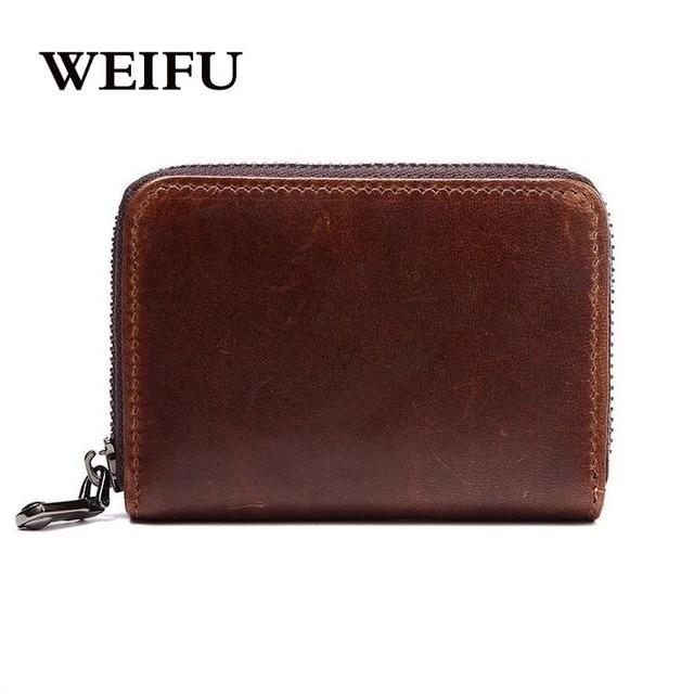 Cowhide Men's wallet The organ card holder Women wallet Leather zero purses