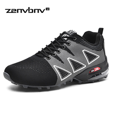 Fashion 2019 Men Casual Shoes Summer Outdoor Breathable Work Shoes Men Sneakers Mesh Shoes Air Cushion Male Non-slip Adult Shoes цена в Москве и Питере