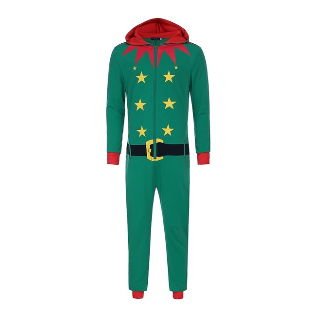358e54609e Christmas Elf Siamese Pajamas Onesie Adult Anime Santa Claus Cosplay Costume  Autumn And Winter Stage Jumpsuit Costumes Red Green