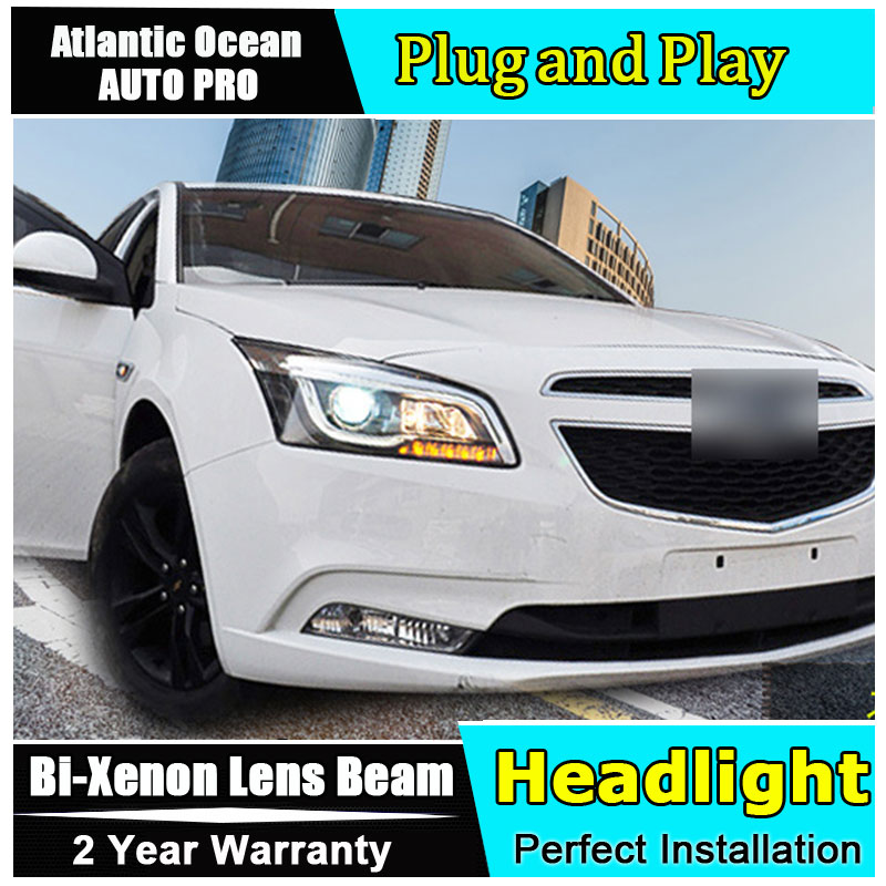 Auto Part Style LED Head Lamp for CHEVROLET CRUZE led headlights 2015 FOR CRUZE H7 hid Bi-Xenon Lens low beam for volkswagen polo mk5 vento cross polo led head lamp headlights 2010 2014 year r8 style sn