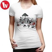 Chucky T-Shirt Horror Park T Shirt O Neck Street Fashion Wom