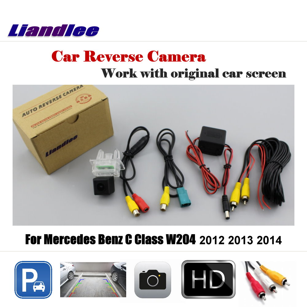 Liandlee Car Rearview Parking Camera For Mercedes Benz C Class W204 2012 2013 2014 Display / HD CCD Rear View Backup Back Camera ccd hd car camera for skoda toyota benz hyundai isuzu iveco mitsubishi nissan opel peugeot renault seat back rear view parking