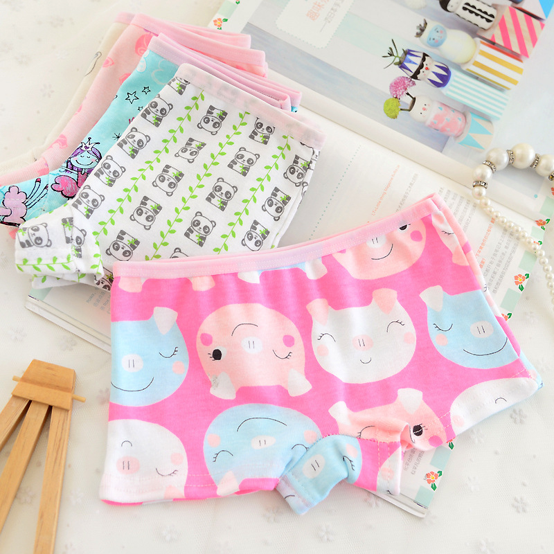 Girls' Clothing Learned 12pcs/lot 100% Cotton Cozy Cute Cartoon Girls Boxer Underwear Models Suit Not Fixed Tnn0111 Careful Calculation And Strict Budgeting