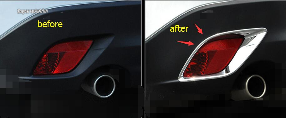 High Quality ! For Mazda CX-5 CX 5 2013 - 2016 ABS Chrome Rear Tail Fog Light Foglight Lamp Cover Kit Trim 2 Pcs / Set