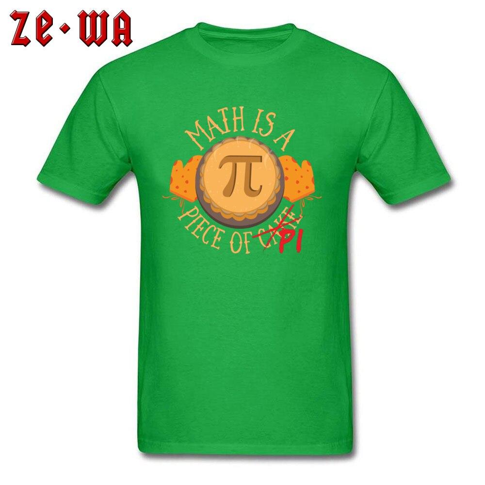 Math Pi -3202 Wholesale Short Sleeve Leisure T-Shirt Cotton Fabric Crew Neck Men Tops Tees Custom T-Shirt Summer/Autumn Math Pi  -3202 green