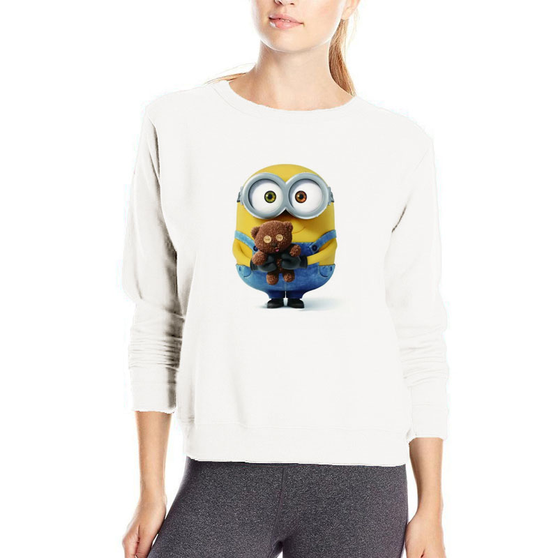 Popular Catoon Minions Hoodie Women Cute Lovely Funny Sweatshirt Popular Minions Streetwear Kawaii Clothes For Girls Hoodie