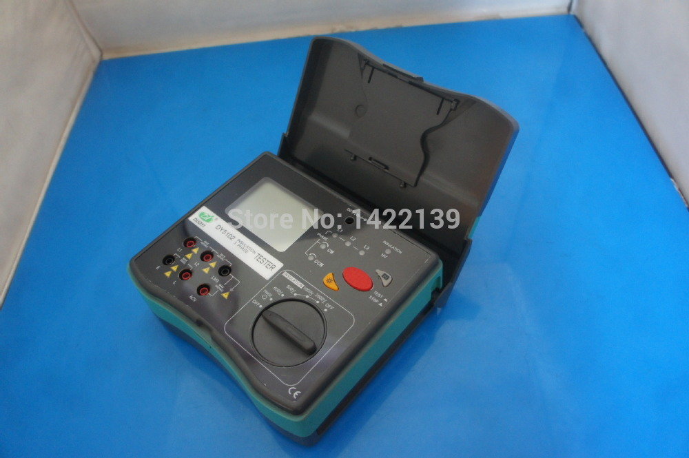 DY5102 Insulation Tester Megohmmeter 2500V + Voltmeter + Phase Indicator 3 in 1 сумка givenchy bb0 5102 012 antigona