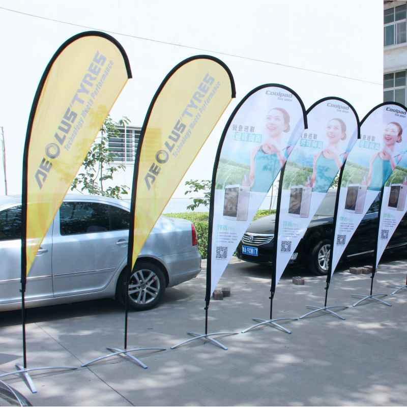Personalizado impresso lágrima bandeira bandeiras de praia e banners gráficos substituição celebração promoção publicidade ao ar livre decoração