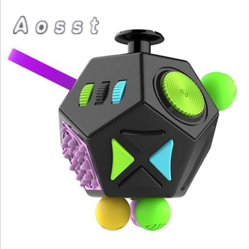 AOSST Fidget Cube MAGIC FIDGET CUBES TOYS FOR ANTISTRESS DICE RELIEVES ANXIETY STRESS FOCUS ANTI-IRRITABILITY CUBE