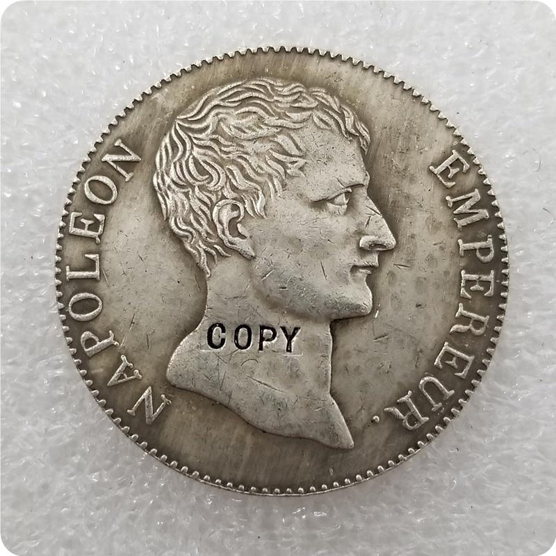 1803 Франция, 5 франков, копия монеты Наполеона, памятные монеты-копия монеты, медаль коллекционные монеты