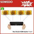 Высокое качество 4 К * 2 К 1x4 HDMI сплиттер + Extender-HDMI 1.4/4 портов HDMI1.4 Spliter box/1 до 4 HDMI Splitter Бесплатная Доставка