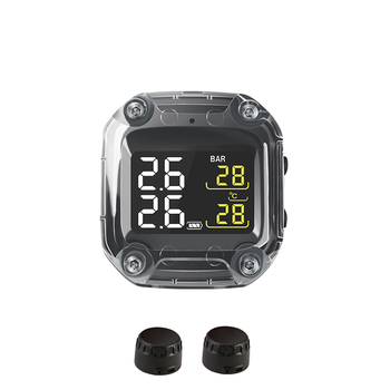 Motorcycle Real Time Tire Pressure Monitoring System Sun Protection LCD Display 2 External Sensor / Motor Tyre Aotu Alarm TPMS