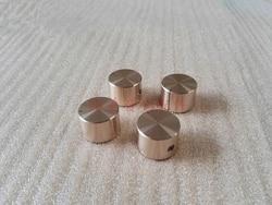 Amplificador estéreo de alta fidelidad con botón de potenciómetro de volumen, 2 uds. De diámetro 22, aleación de aluminio pura de alta fidelidad, botón de potenciómetro de volumen sólido
