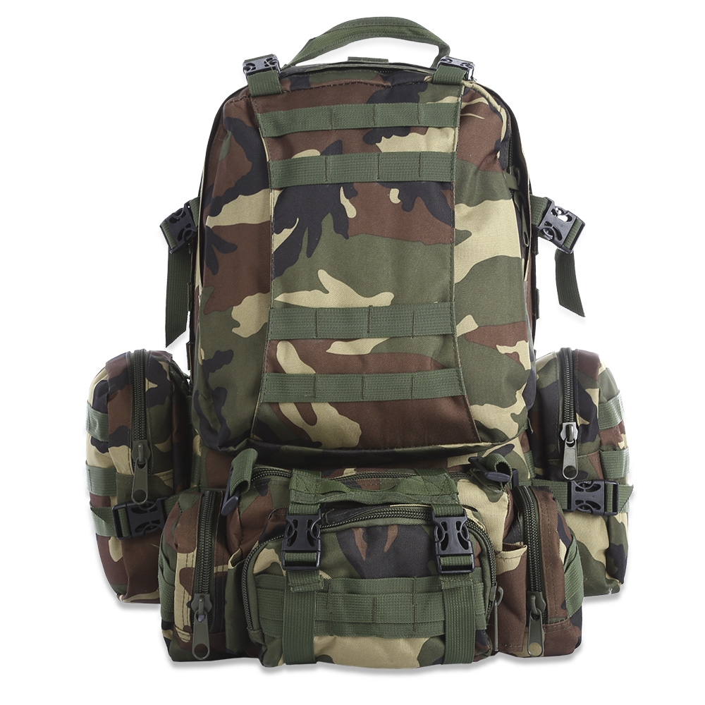 50L Multifunction Molle Tactical Camouflage Backpack for Outdoor Sport Climbing Hiking Camping Sports Bags Climbing Hunting Bag new arrival 38l military tactical backpack 500d molle rucksacks outdoor sport camping trekking bag backpacks cl5 0070