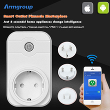Smart Home 10A 2000W Timer EU Wifi Power Socket Plug Phone Remote Wireless Controls IOS Pad Android Domotica Support Alexa Voice