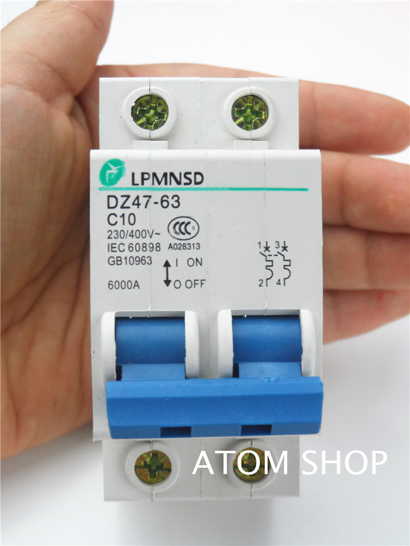 Dz47 2p 10a 400v 50hz 60hz Circuit Breaker Ac Mcb Safety 220v 2 Pole 63a Mini Buy Product Name Model No Exrternal Material Plastic Metal Rated Voltage 230v Current Breaking Capacity 6000a