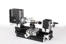 Mini Metal Lathe Machine with 12000r min 60W Motor and Large Processing Radius DIY Tools toy