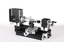 Mini Metal Lathe Machine with 12000r/min, 60W Motor and Large Processing Radius,DIY Tools toy as Children's Gift