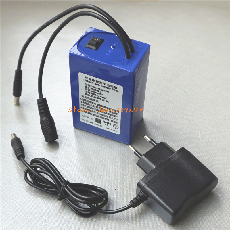 Latest Remote Control <font><b>12V</b></font> 6800MAH <font><b>3AH</b></font> Li-ion Rechargeable <font><b>Batteries</b></font> for Power Bank with FREE Charger & DIY Connector image