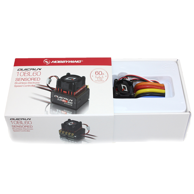 Original Hobbwing QUICRUN 10BL120 Sensored 120A 10BL60 Sensored Brushless ESC Speed Controller For 1 10 1 12 RC Mini Car in Parts Accessories from Toys Hobbies