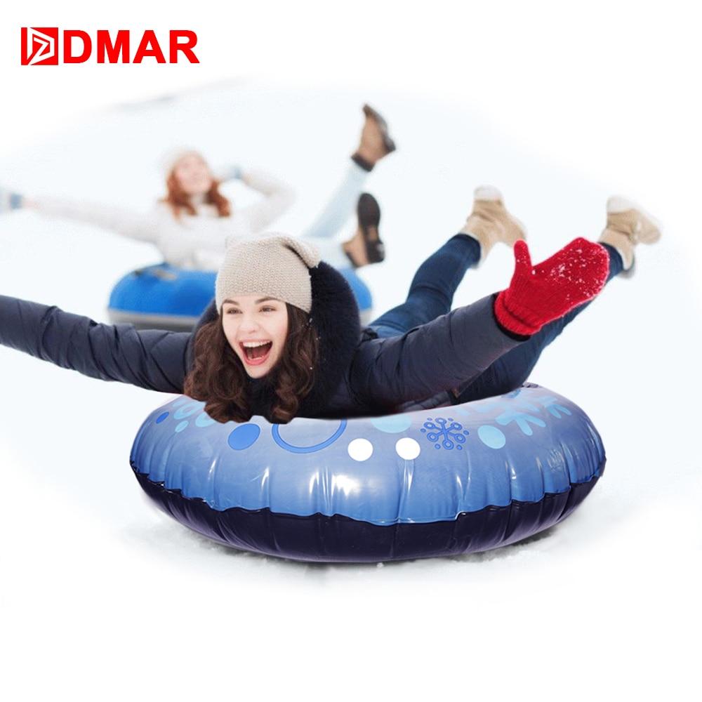 DMAR Tube De Neige Gonflable Pour Adultes Enfants Ski Luge Ski Conseil Avec Poignée Pneus Neige Glissante Herbe Sable Flotteur 2018 hiver NOUVEAU