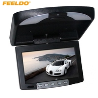 FEELDO 9 Flip Down TFT LCD Monitor Car Monitor Roof Mounted Monitor 2 Way Video Input 3 Color For Choice #AM1282