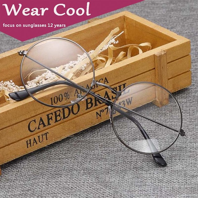 678d41c015 WEAR COOL Fashion Vintage Retro Metal Frame Clear Lens Glasses Nerd Geek  Eyewear Eyeglasses Oversized Round