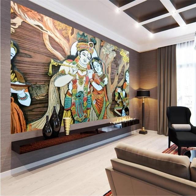 beibehang custom wall mural wallpaper in any size india brahman