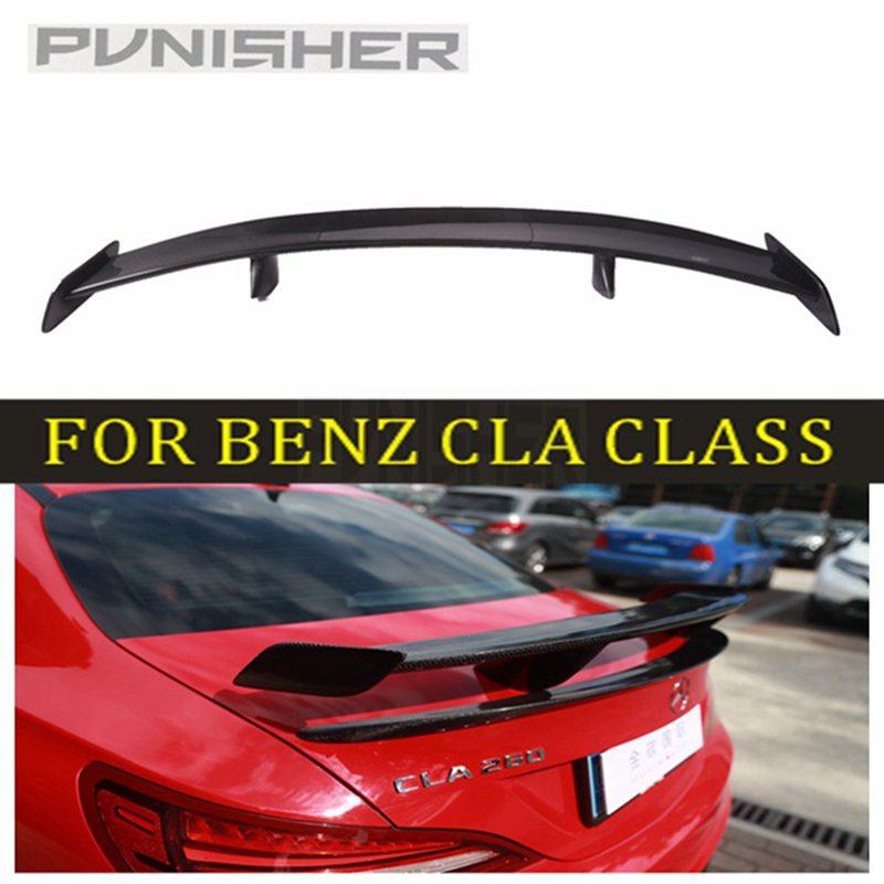Pour mercedes-benz 13-17 W117 CLA classe CLA180 CLA200 CLA45 AMG R Sport fibre de carbone Surface GT aileron d'aile de coffre arrière supérieur