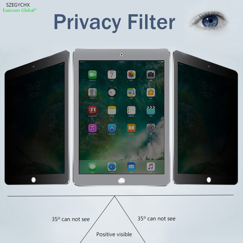 SZEGYCHX 9.7 PET materia 180 Privacy Filter Screen Anti glare Tablet PC Protector Filter Film For iPad 2 3 4 (191x1248mm)