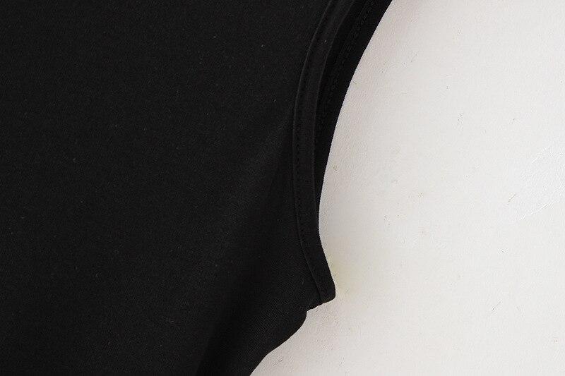 2018 Новое поступление Для женщин модная летняя Повседневная Твердые Хлопок без рукавов Безрукавки для женщин черный топ Для женщин wtx21534