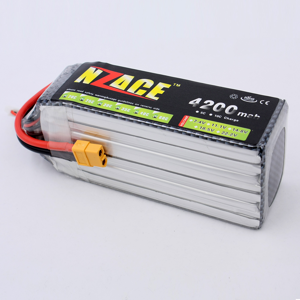 NZACE POWER 6S lipo battery 22.2v 4200mAh 30C rc helicopter rc car rc boat quadcopter remote control toys Li-Polymer battey xxl a grade 4s lipo battery 14 8v 5200mah 30c helicopter rc car quadcopter remote control toys li polymer battey rc parts
