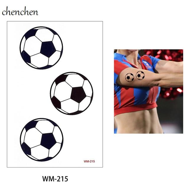 US $0.45 |Temporary Tattoo sticker for body art football basketball water  transfer flash tattoo fake tatoo for men kid child tattoos -in Temporary ...