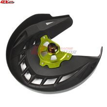 Motorcycle Plastic Front Brake Disk Protector Cover Protection Cover For KX125 KX250 06-08 KX250F KX450F 06-15 MX Motocross все цены