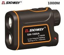 SNDWAY 1000M Laser Range Finder Scope Meter Speed Measurer Monocular Rangefinder 8x Distance For Outdoor Sports Monocular