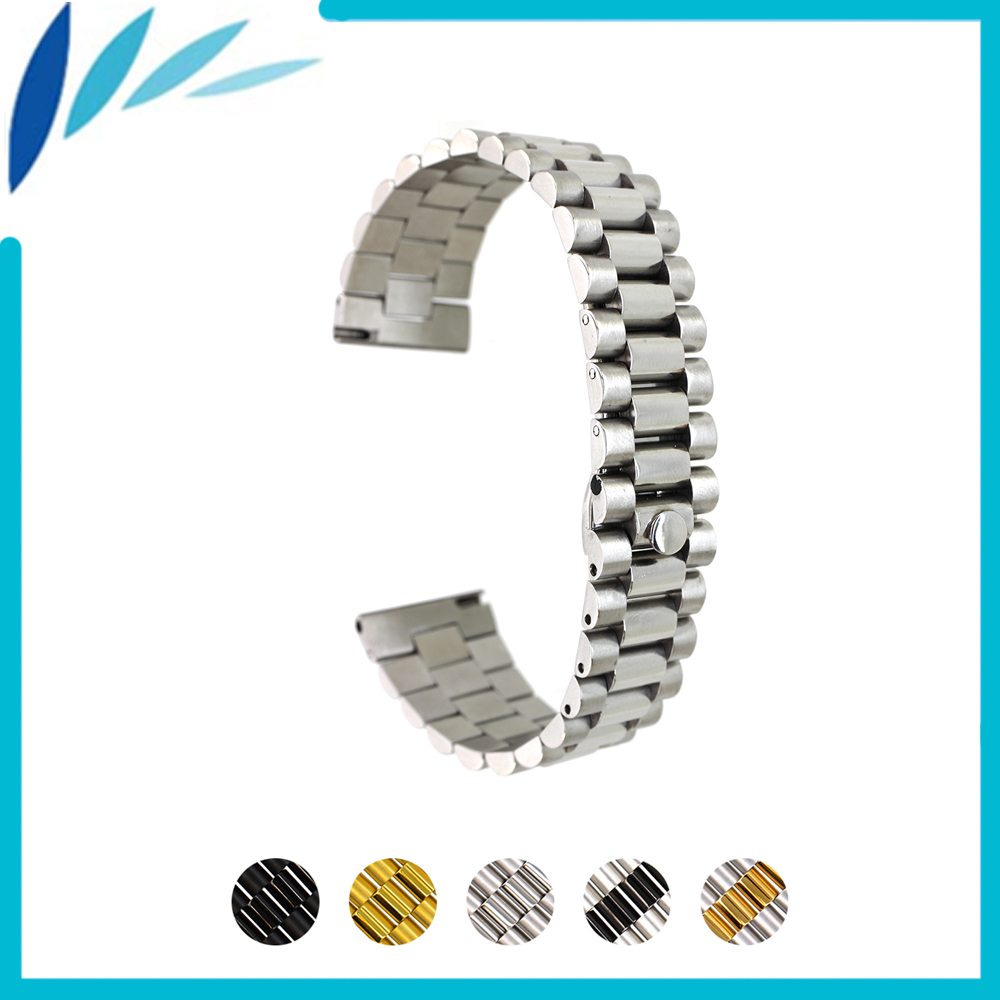 Stainless Steel Watch Band 18mm 20mm 22mm for Fossil Quick Release Watchband Strap Wrist Loop Belt Bracelet Silver + Spring Bar stainless steel watch band 20mm 22mm for cartier butterfly buckle strap quick release loop belt bracelet black silver tool